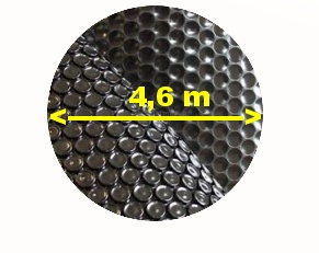 Solární bublinková plachta na bazén černá kruh 4,6 m