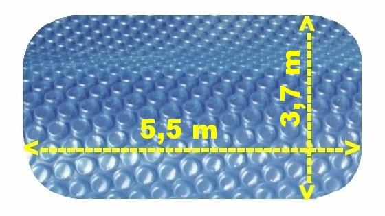 Solární plachta na bazén modrá ovál 5,5 x 3,7 m
