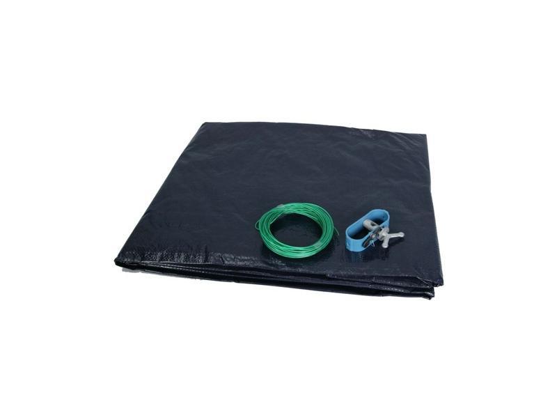Krycí plachta kruh 3 m na bazén průměru 2,5m - Černá