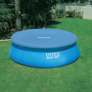 Krycí plachta kruh 4,3 m na bazén průměru 3,6 m - Modrá