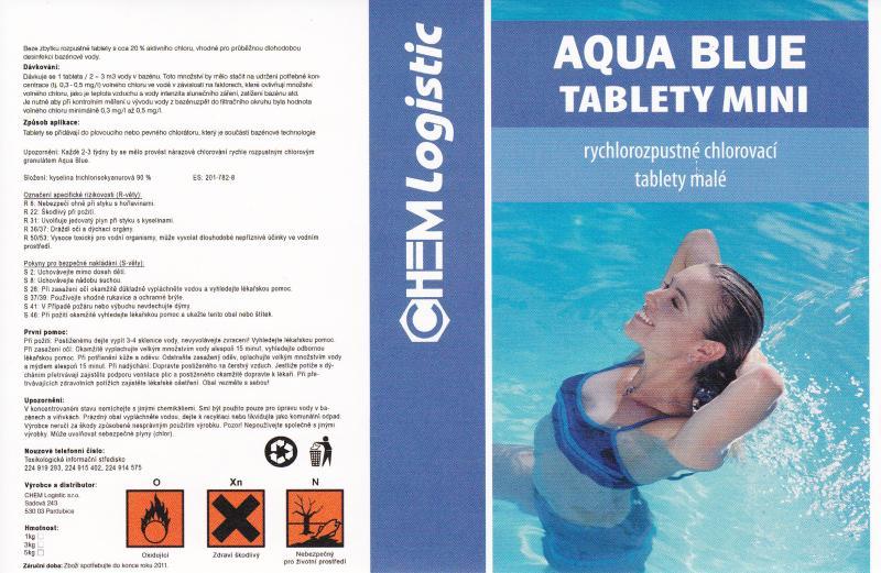Aqua Blue tablety chlorové mini 3 kg