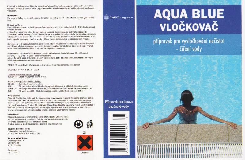 Aqua Blue vločkovač pevný granulát 5 kg