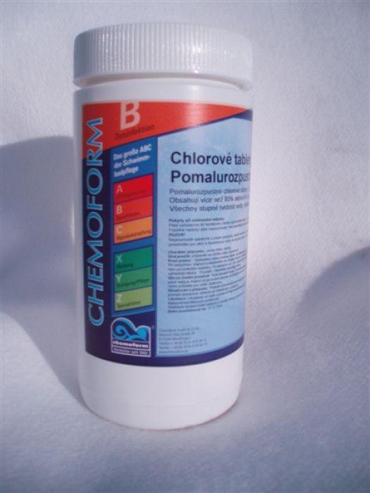 Chlorové tablety pomalurozpustné 200g - maxi 1kg