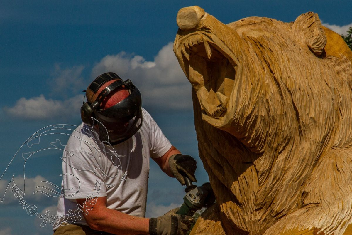 Grizzly - dřevořezba