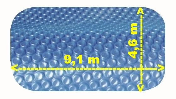 Solární plachta na bazén modrá ovál 9,1 x 4,6 m