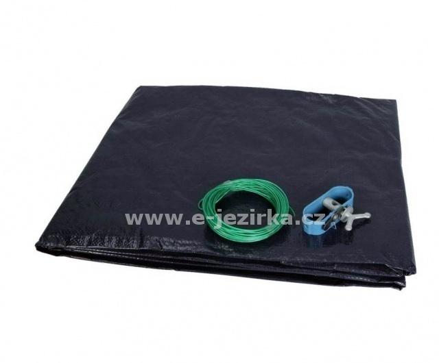 Krycí plachta ovál 8,0 x 4,3 m na bazén 7,3 x 3,7m - Černá