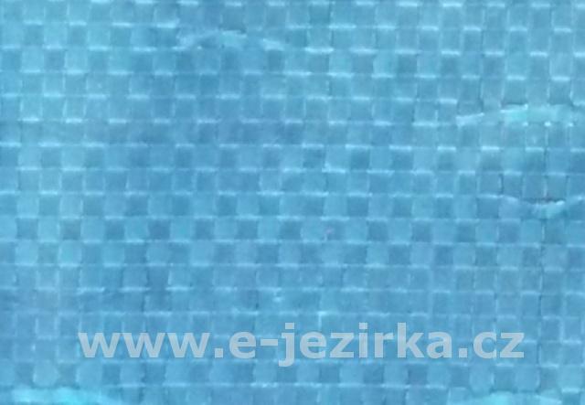 Krycí plachta ovál 6,0 x 4,3 m na bazén 5,5 x 3,7m - Modrá